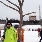 雪山でのサングラス画像