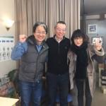 井上文秀氏と奥様とのスリーショット写真